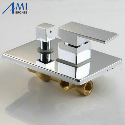 Shower Equipment Shower Faucets Bakala Luxury 2 Ways Round Mixer Tap Chrome Brass Shower Valve Panel In Wall Bathroom Faucet Tap Br-9917