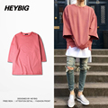 Rose red Jumper Nice Shape Drop-shoulder New Hot tops K*nye west Pullover unisex Latest Hip hop Tee shirt 2016 HEYBIG CN SIZE