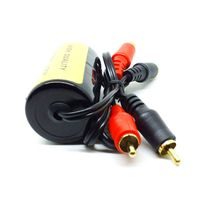 RCA Audio Noise Filter Suppressor Ground Loop Isolator For Car And Home Stereo Y5GF