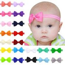 Повязка на голову для маленьких девочек; Детские аксессуары для волос; повязка с бантиками для новорожденных; головной убор; Тиара; подарок для малышей; повязка на голову