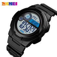 SKMEI Outdoor Sport Watch Men Digital 5Bar Waterproof Wristwatches Pedometer Calorie Compass Watches Relogio Masculino1424