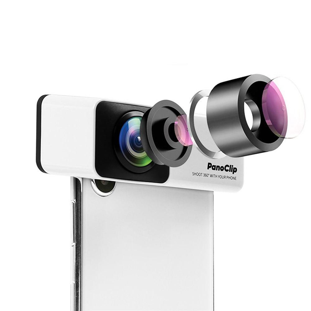 Cellphone 360 degrees Panoramic Capturing Phones Camera Lens Panorama Shot Lens for iPhoneX, iPhone7P/8P, iPhone7/8 PanoClip