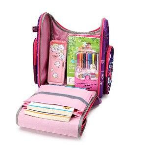 Image 5 - Детский рюкзак для начальной школы для мальчиков и девочек, ортопедический ранец с гоночными машинами, школьные портфели с бабочками