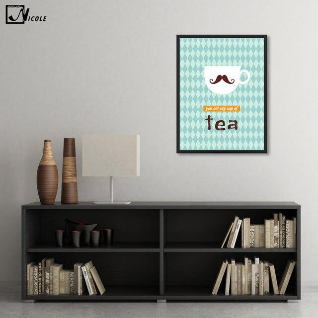Lustige Zitate Leinwand Poster Cartoon Minimalistischen Kunst Leinwand A4  Malerei Kaffee Tee Wandbild Drucken Moderne Esszimmer Dekoration