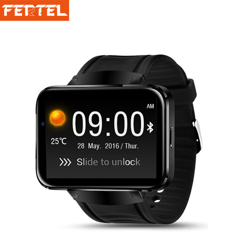 3G Smart Watch Phone DM98 Android 4.4 MTK6572 Dual Core 2.2inch 512MB+4GB Wifi GPS Bluetooth Passometer Smartwatch цена