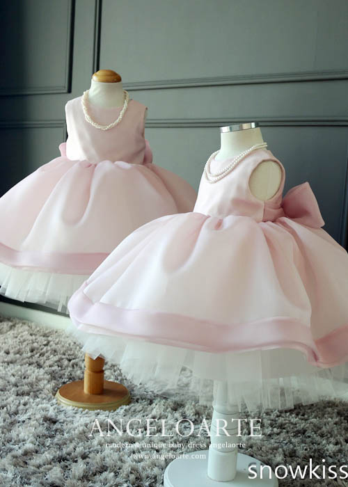 2017 Baby Pink Flower Girl Dresses For Party Weddings Toddler Cupcake Ball Gown Dress With Bow 1 year birthday baby dress bbwowlin baby clothes flower girl dresses for weddings baby girl 1 year birthday dress for newborn 10 years baby wear 8030