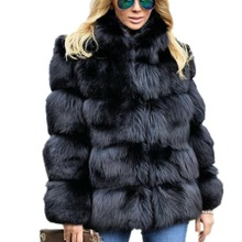 Lisa Colly Women Winter Coat Jacket Luxury Faux Fox Fur Coat Slim Long sleeve collar coat Faux Fur Jacket Outwear Women Fake Fur lisa colly women winter coat jacket new faux fur long coat jacket fur coat overcoat thick warm outerwear fox fur coat jacket