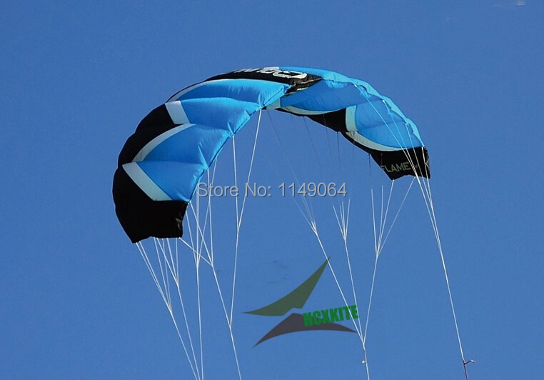 free shipping high quality F2 square meters quad line power kite surf Chinese kites carbon fiber tube kite flying white diy kite
