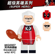 Single Sale Mr. Kentucky Deadpool Custom Sets Medol Collection Educational Building Blocks Bricks Children Gift Toys(China)