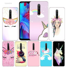My Unicorn Girl Case for Xiaomi Redmi Note 7 7S K20 Y3 GO S2 6 6A 7A 5 Pro MI Play 9T A1 A2 8 Lite Poco F1 Silicone Phone Bags(China)