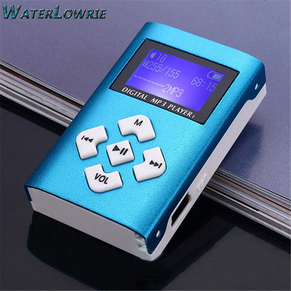 Waterlowrie Portable MP3 Player Mini with LCD Screen <font><b>Clip</b></font> MP3 Music Player Sport MP3 Support 8G Micro TF/SD Card Slot