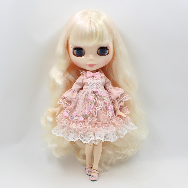 Neo Blythe Doll Flower Lace Skirt Dress With Bow