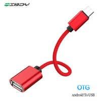 Micro USB OTG Cable adaptador de transferencia de datos Micro USB macho a USB hembra adaptador para Samsung Xiaomi HTC Android Teléfono conector