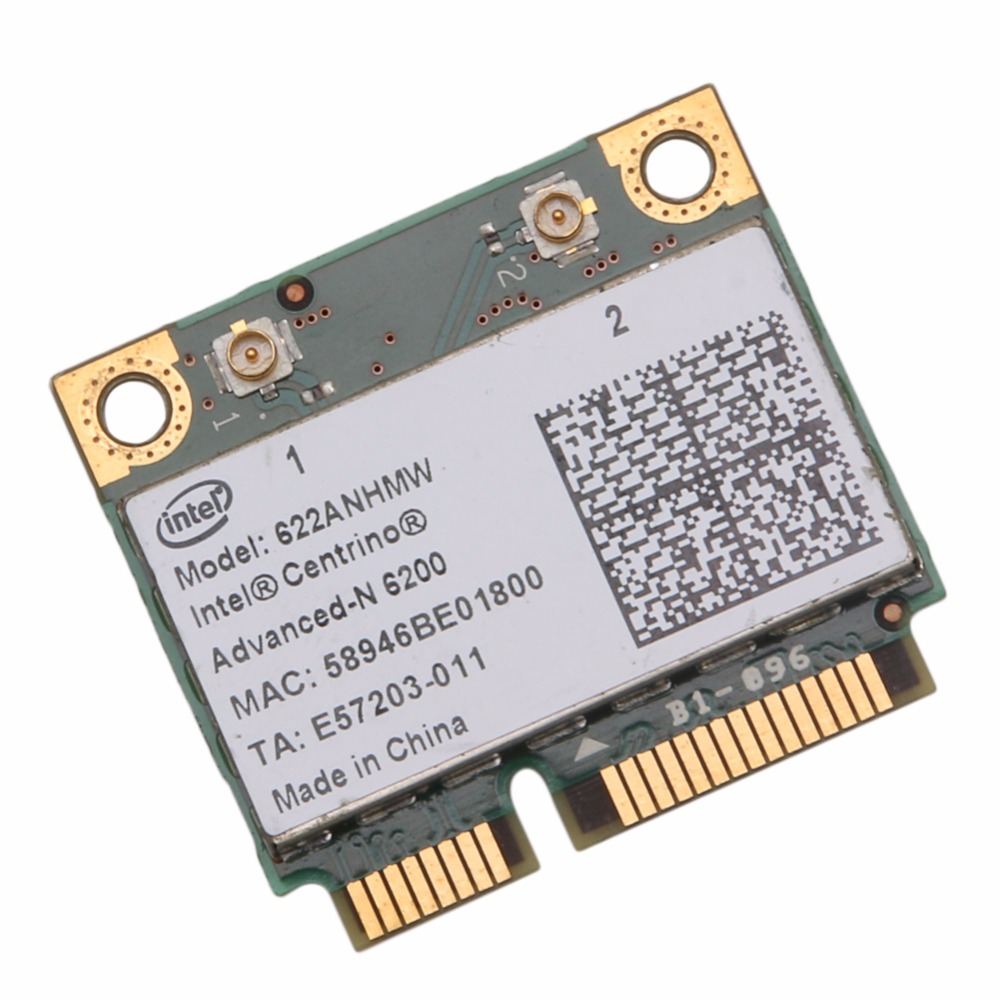 Tablet-Intel Half 622AN 6200 Mini PCI-E Card 300Mbps For DELL Acer Gateway Notebook Hot