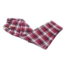 9eee7b13de Super Soft Loose Pants 100% Cotton Plaid Spring Summer Women s Sleep  bottoms Pajamas Bottoms Sleepwear
