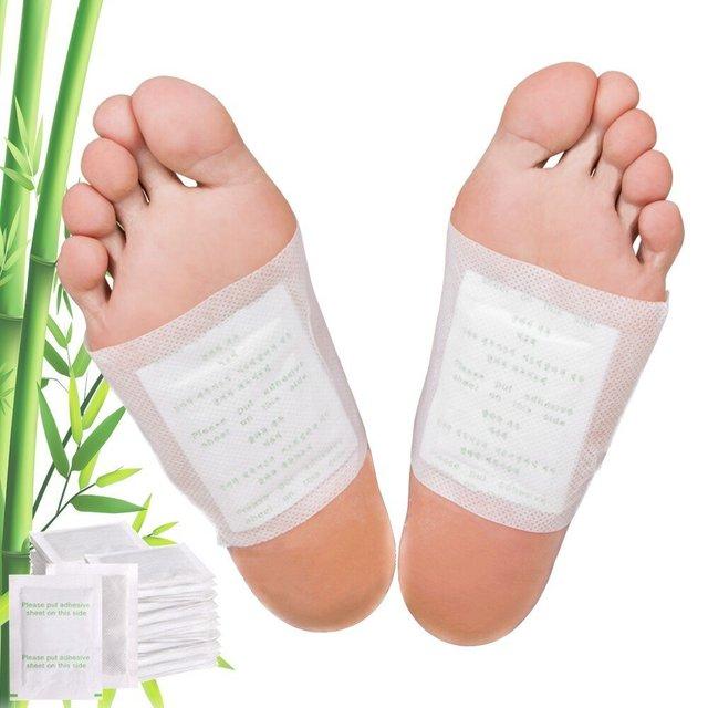 10pcs/box detox foot pads bamboo vinegar ginger foot patch improve.