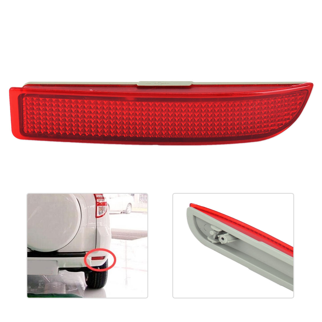 beler 81920-0R020 New Plastic Right Bumper Rear Light Lamp Cover Reflector fit for Toyota RAV4 2009 2010 2011 2012 beler rear left side fog light bumper lamp reflector sl693 lh fit for mitsubishi outlander 2007 2008 2009 2010 2011 2012 2013