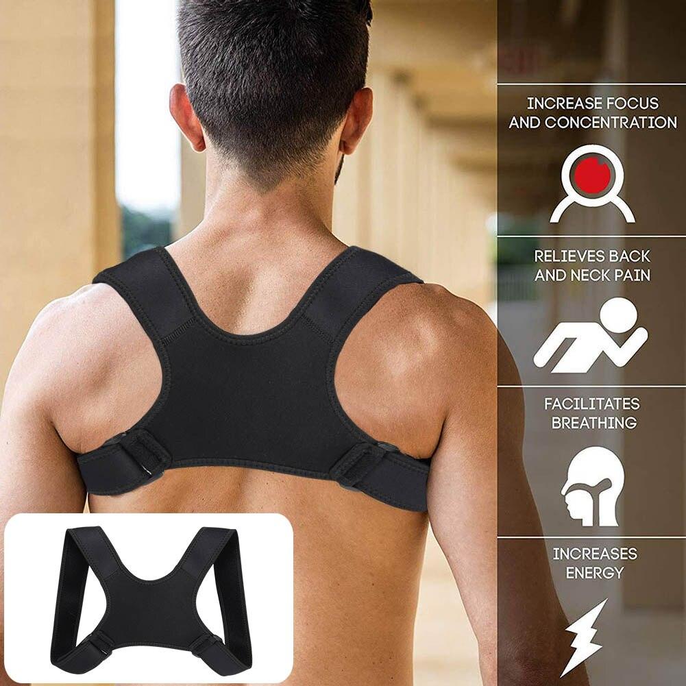 Boa postura saudável corrector fratura apoio volta ombro correção cinta cinto cinta