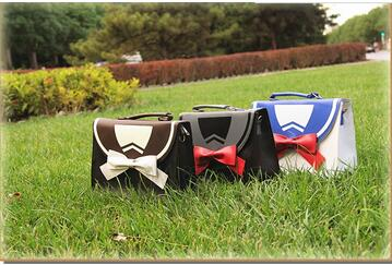 1 piece PU Casual Lady Lolita Girls Sailor Moon bow Shoulder Bag Collaboration Luna Artemis schoolbag