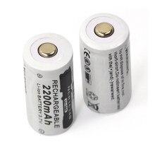 3.7V 2200mAh Lithium Li-ion 16340 Batterie CR123A Piles Rechargeables 3.7V CR123 pour Laser Stylo LAMPE DE POCHE LED Cellulaire