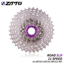 ZTTO Ultraleicht Straße Fahrrad 11 S 11-28T SLR2 Kassette 11 Geschwindigkeit 11-32T 34T 36T Freilauf 11V K7 Radfahren CNC Kies Bike HG System cheap STEEL 28 - 34T Freewheel 11- Geschwindigkeit ROAD SLR 72 Töne