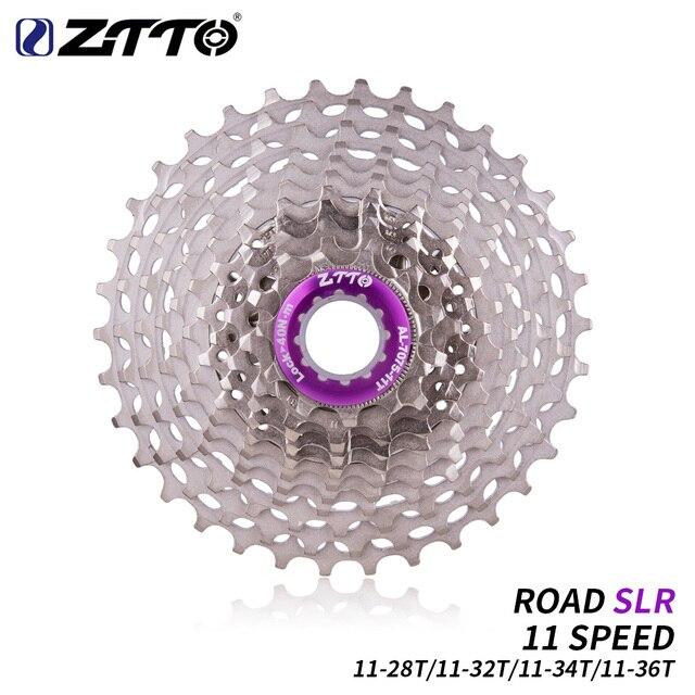 ZTTO Ultralight Strada Della Bicicletta 11 S 11 28T SLR2 Cassette 11 Velocità 11 32T/34T/36T Ruota Libera 11V K7 Ciclismo CNC Ghiaia Bike HG Sistema