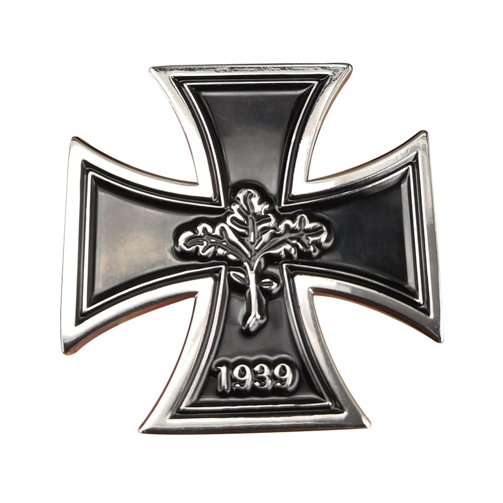SET OF 2 WW2 GERMAN MILITARY BADGES WEHRMACHT 1935-1945 WITH IRON CROSS REPRO
