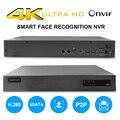 36CH 4 K NVR с 4CH 1080 P распознавание лица сетевой рекордер H.265 Интеллектуальный анализ onvif p2p внешняя сигнализация двухсторонний голос
