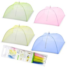 4Packs Mesh Screen Food Cover Tents Umbrella Screens to Keep Bugs And Flies Away From at Picnics, BBQ & More - 4 Colors