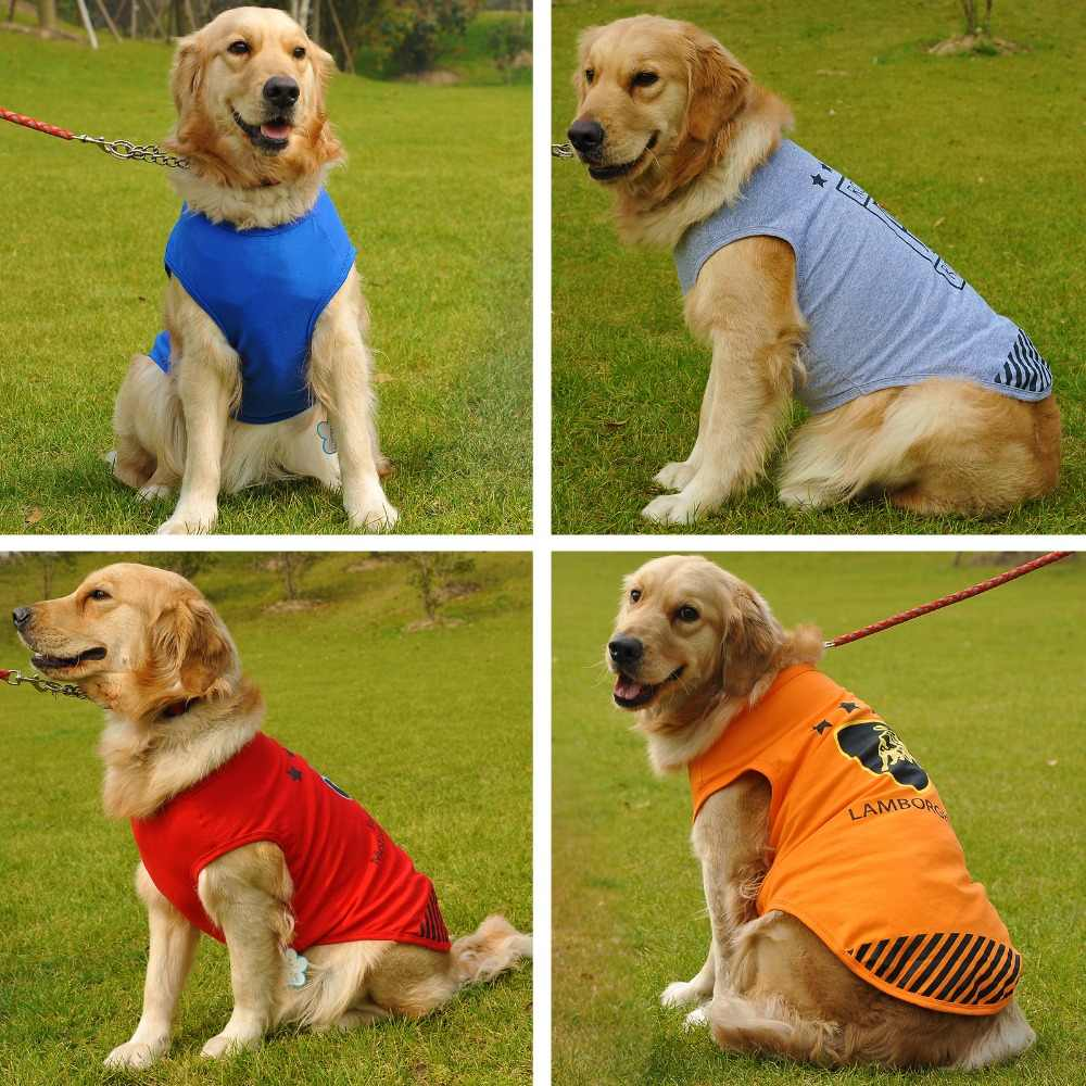 ccf7ca5f3c88 Detail Feedback Questions about Pet Clothes Small Medium Large Dog Clothes  Summer Vest Shirt Boxer Pitbull Golden Retriever Labrador Big Dog Clothing  ...