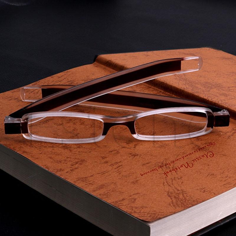 Resistente Rotación de 360 grados Plegable Gafas de lectura Gafas Dioptrías Elegante