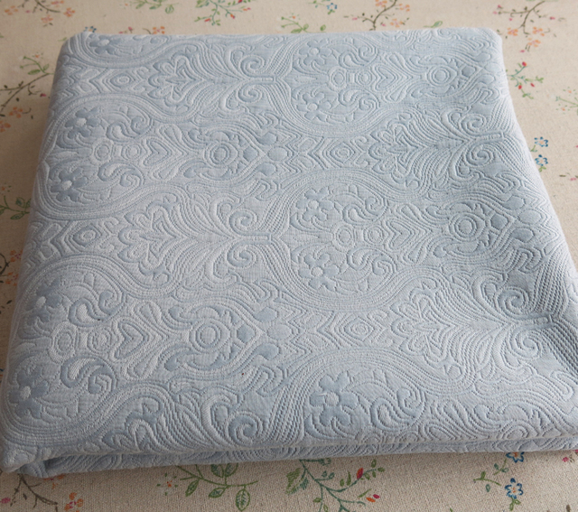 Thick Vintage Grey Blue Sofa Upholstery Material Polyester Cotton Damascus Jacquard Brocade Fabric
