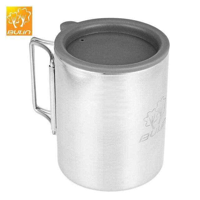 Bulin BL600-D3 300 ml di Campeggio Esterna Tazza In Acciaio Inox Tazza di Acqua Pieghevole