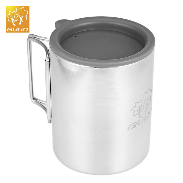 Bulin BL600 - D3 300ML Outdoor Camping Mug Stainless Steel Foldable Water Cup