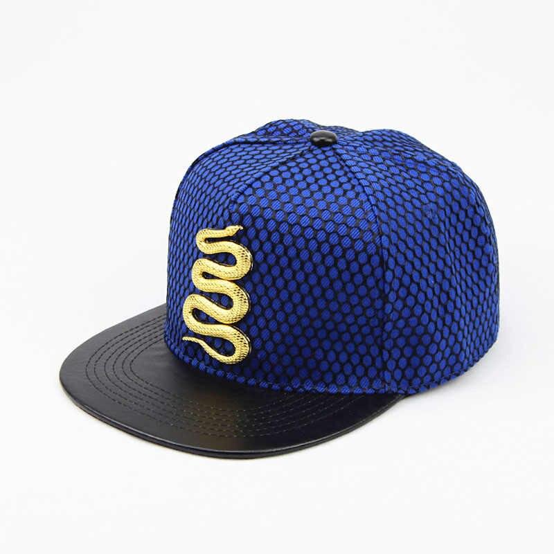 4b201eb28b427f ... 2017 Summer Baseball Cap Brand Golden snake Hat For Men Women Casual  Bone Hip Hop Snapback ...
