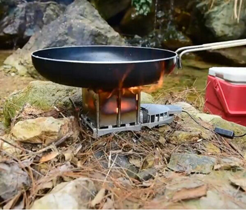 New Arrival BRS-116 Outdoor Camping Picnic Wood Burning Stove Foldable Firewood Furnace Charcoal BBQ Barbecue Grill Wood Stoves