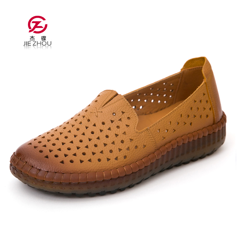 New Arrival Women Flats Shoes Woman Loafers Ladies Slip on Flats Summer Breathable Women Shoes Genuine