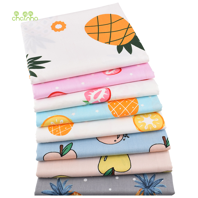 Arts,crafts & Sewing Chainho,new Fruit Pattern Series,printed Twill Cotton Fabric,for Diy Quilting Sewing Baby&childrens Sheet,pillow,material,cc296 Home & Garden