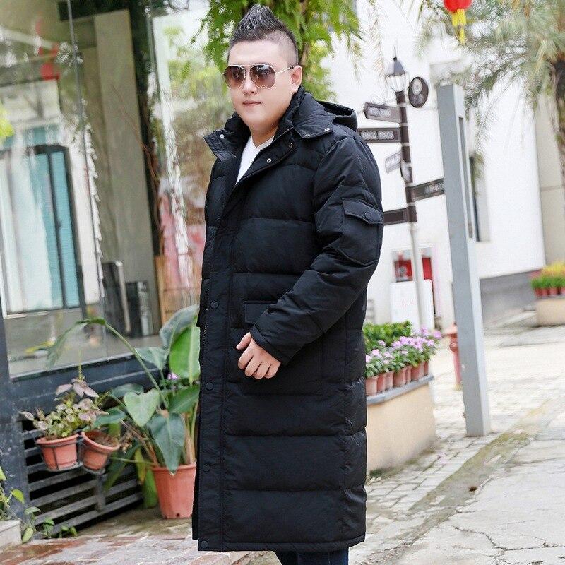 Chaqueta Extra grande sobre la rodilla para hombre más fertilizante para aumentar el grosor de la sección larga frío abrigo 10XL 9XL 8XL-in Plumíferos from Ropa de hombre    2