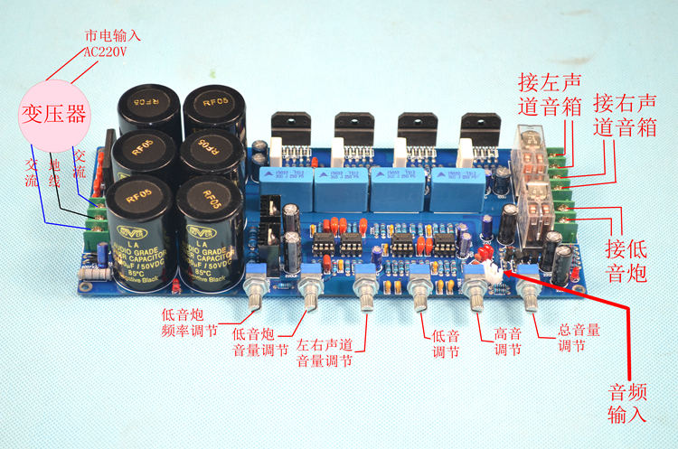 LM3886 2.1 subwoofer amplifier board / Hifi amplifier board / with protective subwoofer