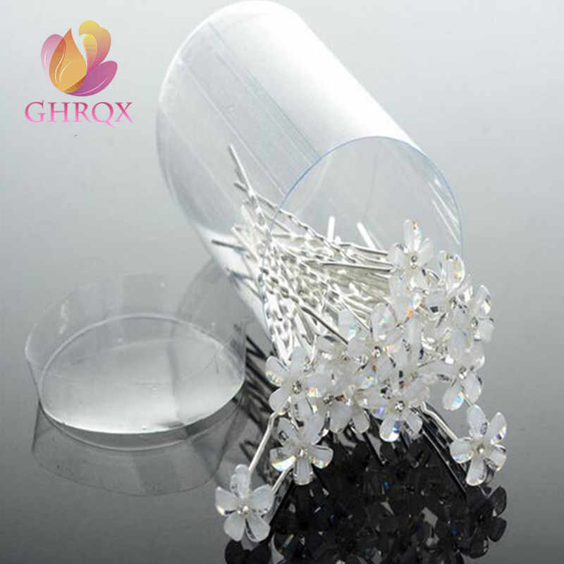 GHRQX U-type hairpin headdress Pearl flowers Bride headdress  1pcs