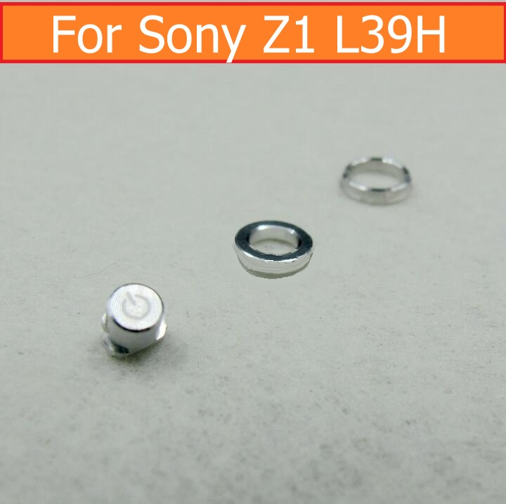 Original Power Button Ring & Earphone Ring & Power Button For Sony Xperia Z1 L39h C6902  C6903 C6905 Metal Button Silver Colour
