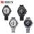Curren nova moda relógio de quartzo casuais homens releather grande mostrador cronógrafo à prova d' água relógio de pulso relojes frete grátis 8083