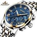 Мужские наручные часы Aesop  роскошные спортивные наручные часы из нержавеющей стали  наручные часы для мужчин