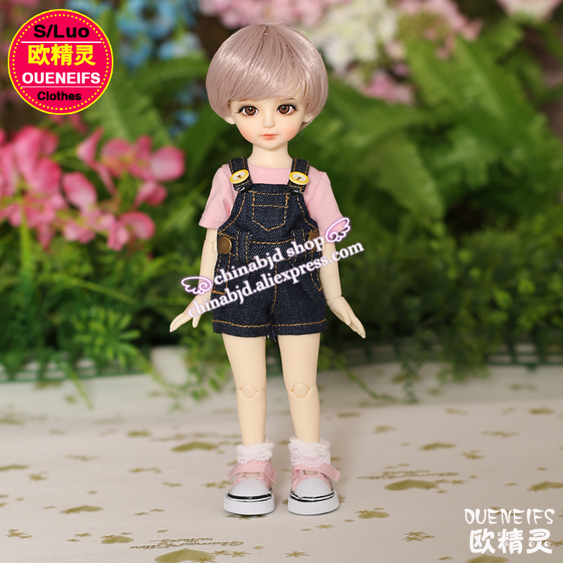 OUENEIFS free shipping pink t-shirt and black jeans rompers,simple and fashion 1/6 bjd sd doll clothes, no doll or wig YF6 to 90 handsome grey woolen coat belt for bjd 1 3 sd10 sd13 sd17 uncle ssdf sd luts dod dz as doll clothes cmb107