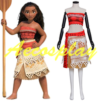 Newest Movie Moana Cosplay Costume Halloween Costumes For Adult Women Sexy Princess Moana Costume Suit Custom