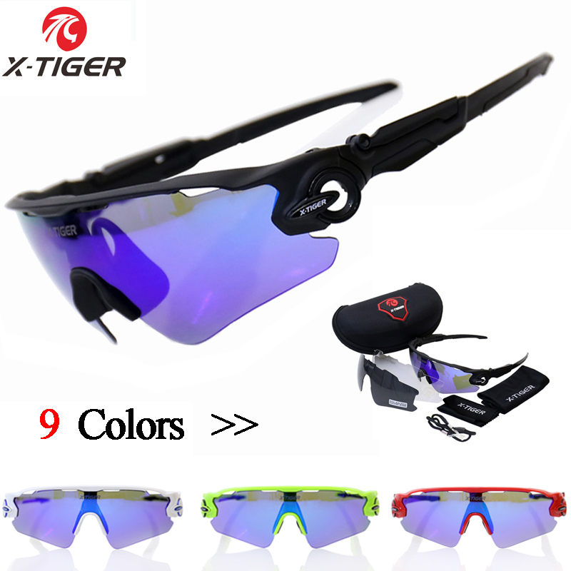 X-TIGER Polarized Cycling Sun Glasses Outdoor Sports Bicycle Sunglasses Goggles 3 Lenses Gafas de Ciclismo Bike Eyewear