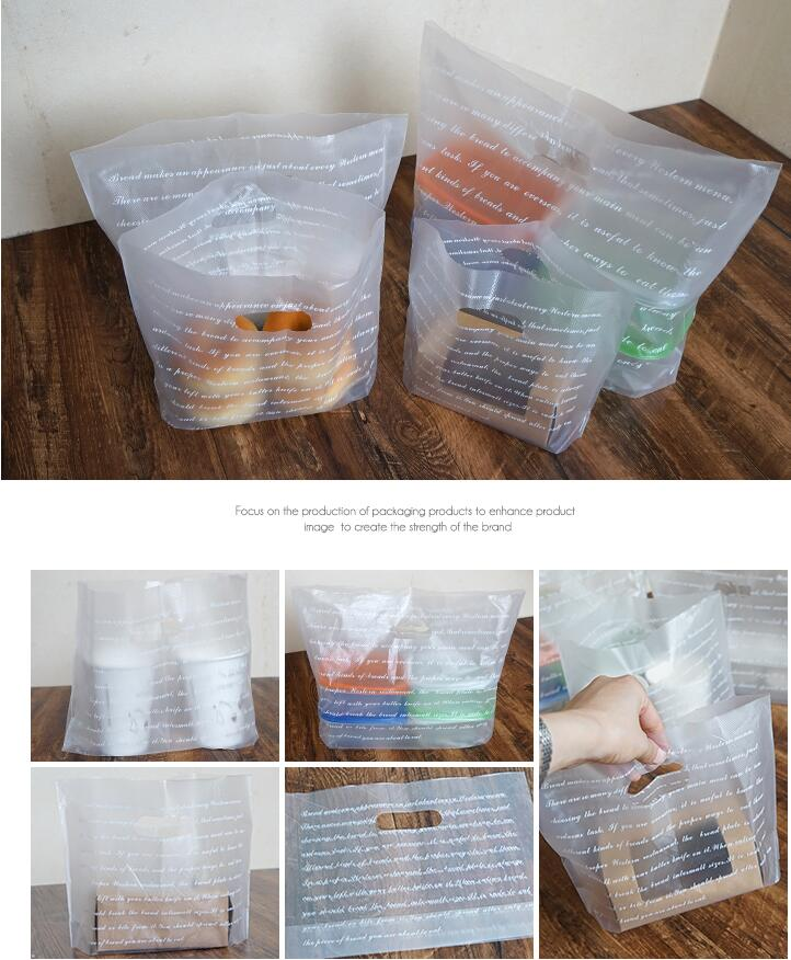 40x31cm Matte Clear Plastic Shopping Bag with Handle Favor ...
