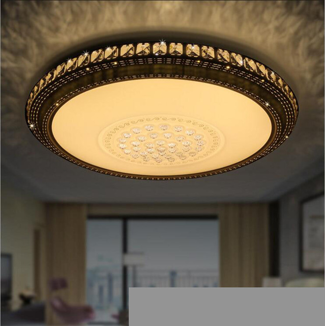 led dome light atmosphere living room crystal lamp master bedroom ceiling lighting fixture for
