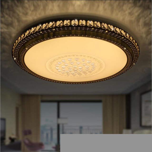 Led lichtkuppel atmosphäre wohnzimmer kristall lampe schlafzimmer decke  leuchte für schlafzimmer 50/60/80 cm lampen